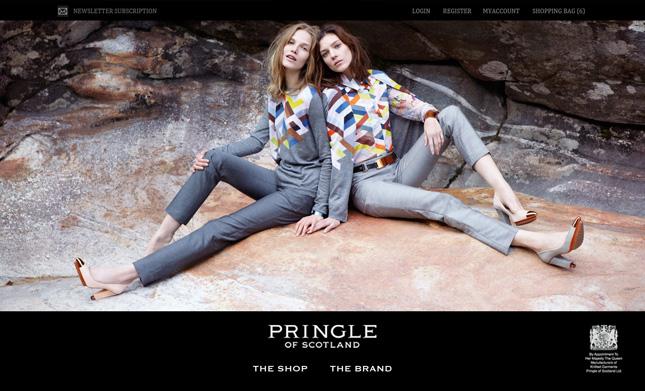 Pringle of Scotland rilancia il negozio online