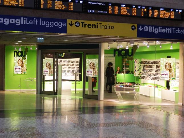 Negozio Nau! alla Stazione Centrale di Milano