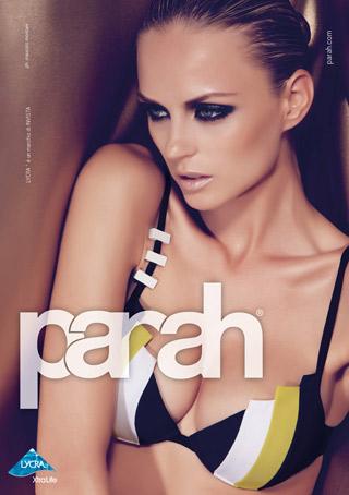 Nastya Kunskaya per la nuova campagna beachwear di Parah