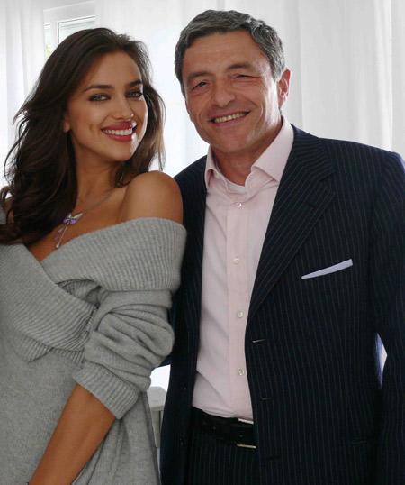 Irina Shayk e Massimo Carraro AD di Morellato