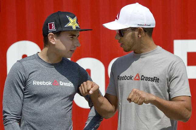 Jorge Lorenzo e Lewis Hamilton