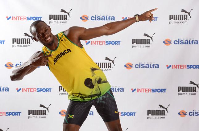 Usain Bolt a Roma presenta le nuove Puma
