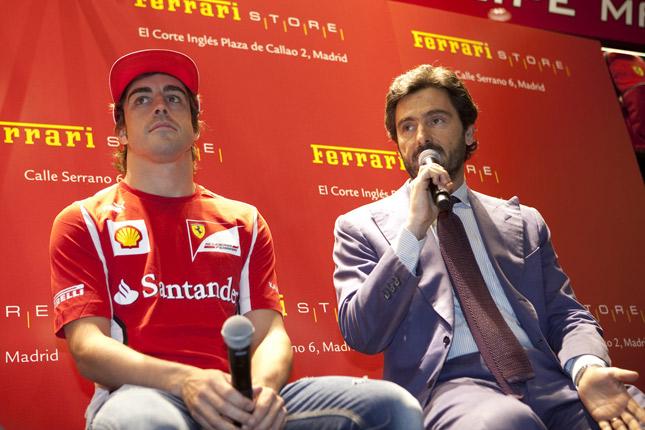 Fernando Alonso e Lorenzo Bassetti, Direttore Generale A.R.P., Advanced Retail Project