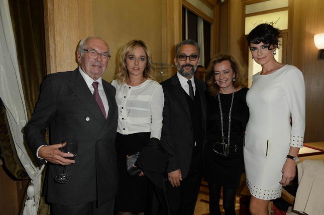 Karl Scheufele, Valeria Golino, Beppe Fiorello, Caroline Scheufele e Anna Valle