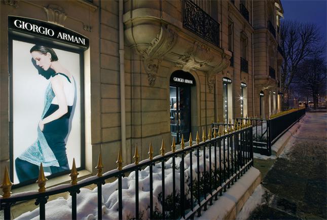 Boutique Giorgio Armani a Parigi