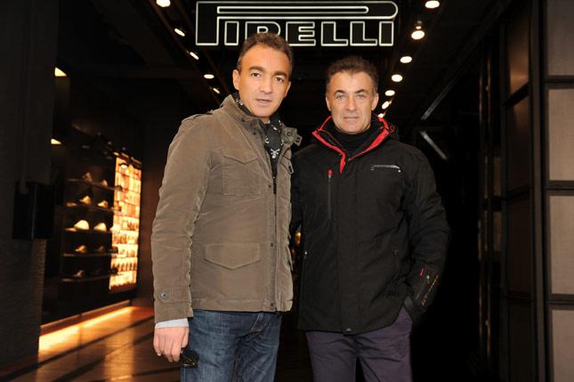 Jean Alesi da Pirelli PZero a Milano