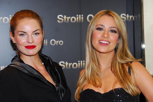Martina Stella all'apertura di Stroili Oro a Roma