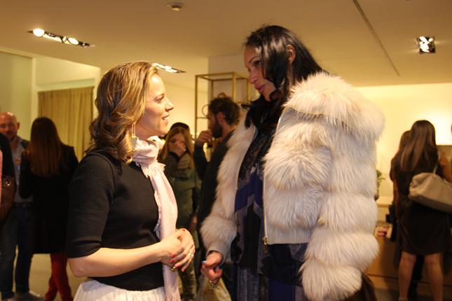 Giorgia Caovilla con Karina Pianegonda, moglie di Franco Pianegonda