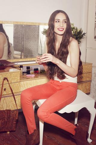 Lizzie Jagger per Wrangler Denim Spa