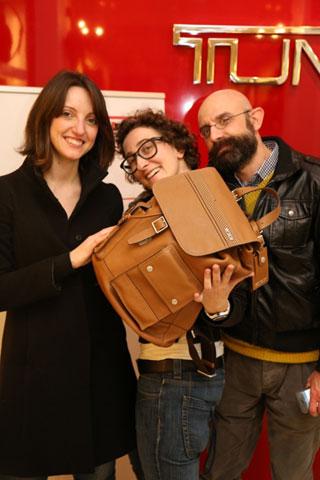 Marta Casadei (Il Sole 24ore), Caterina di Iorgi (Blogosfere) e Marco Loriga, responsabile comunicazione di Mila Schon