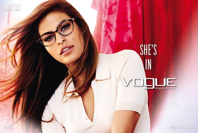 eva mendes vogue eyewear primavera-estate 2013