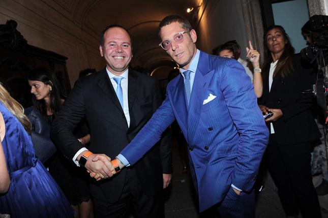 Carlo Barlocco (Samsung) e Lapo Elkann