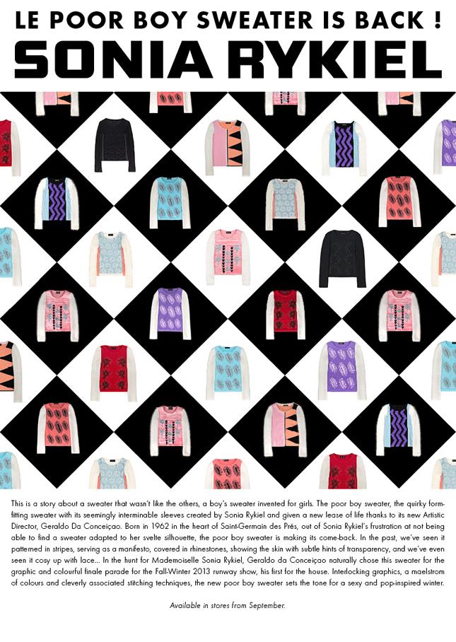 Poor Boy Sweater by Sonia Rykiel