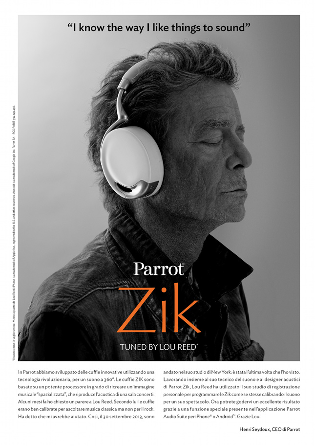 Parrot Zik Tuned by Lou Reed