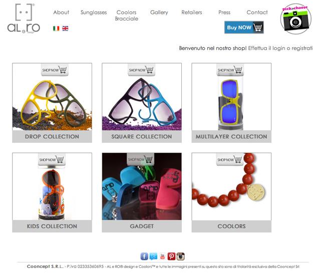 Boutique online Al e Ro design