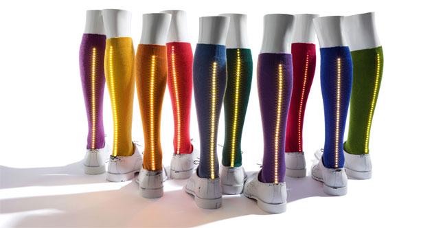 GAL-LED, la calza illuminata di Gallo