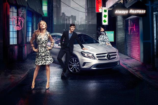 La nuova campagna Mercedes-Benz GLA con Georgia May Jagger