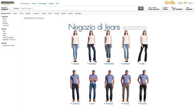 Amazon apre il negozio Abbigliamento