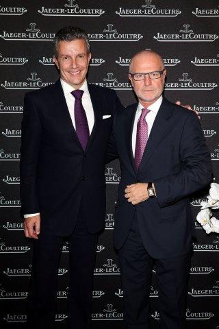 Daniel Riedo, CEO Jaeger-LeCoultre e Claudio Angè, Direttore Jaeger-LeCoultre Italia
