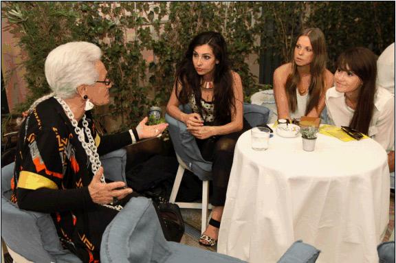 Rosita Missoni a colloquio con alcune blogger