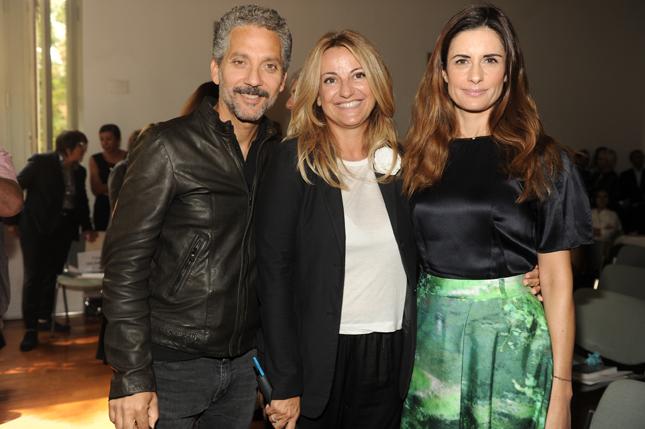 Beppe Fiorello, Cristiana Schieppati e Livia Firth