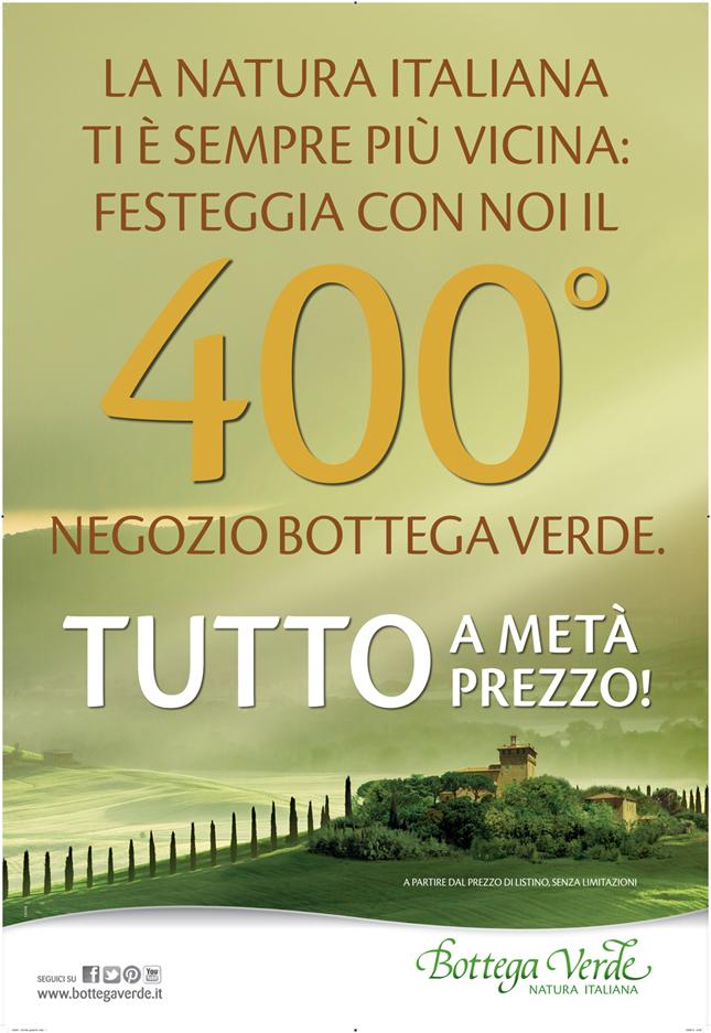 Bottega Verde ti offre un week end di shopping super scontato!