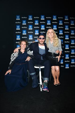Ginevra e Lapo Elkann insieme a Franca Sozzani