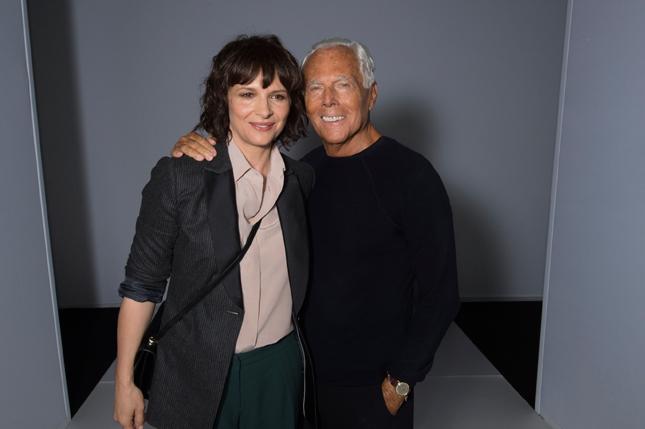 Juliette Binoche e Giorgio Armani