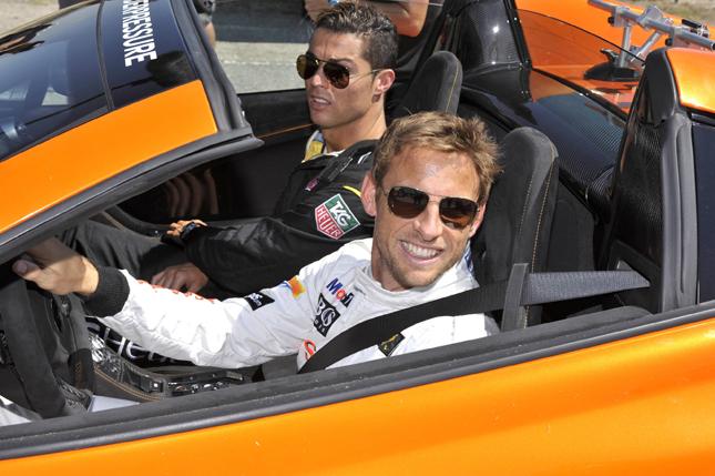 Jenson Button e Cristiano Ronaldo per Tag Heuer