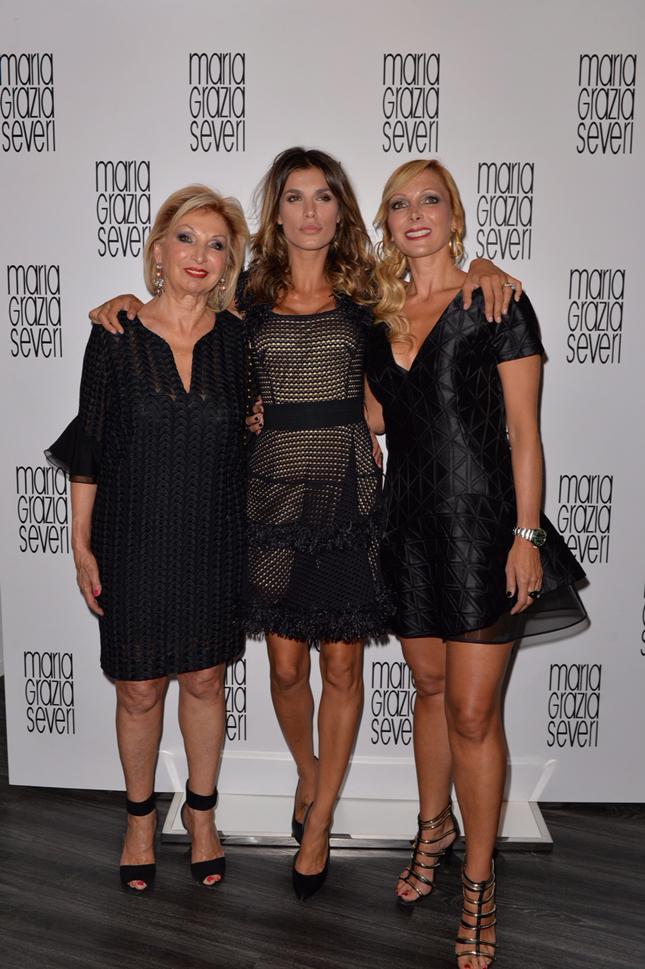 Maria Grazia Severi e Francesca Severi con Elisabetta Canalis