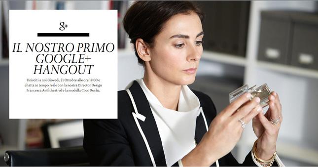 Tiffany & Co. vi invita alla Google+ Hangout con Francesca Amfitheatrof e Coco Rocha