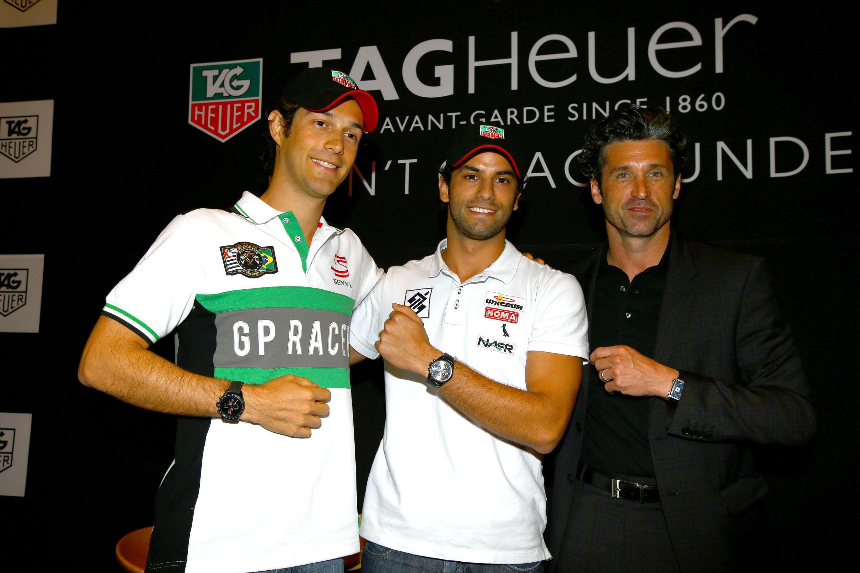 Bruno Senna con Felipe Nasr e Patrick Dempsey