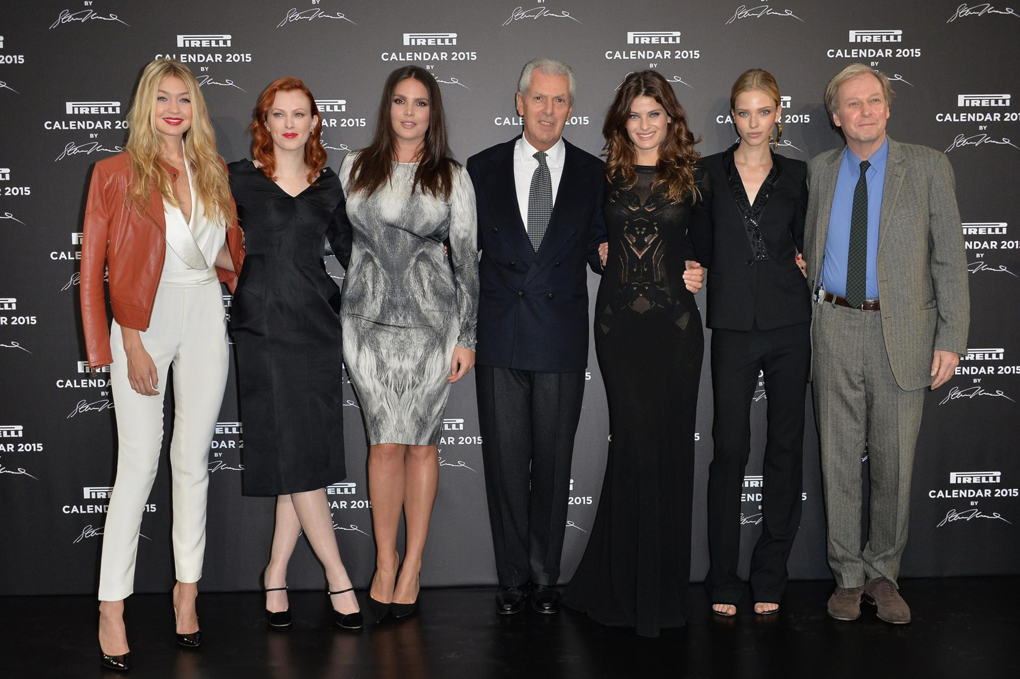Gigi Hadid, Karen Elson, Candice Huffine, Marco Tronchetti Provera, Isabeli Fontana, Sasha Luss e Jimmy Moffat
