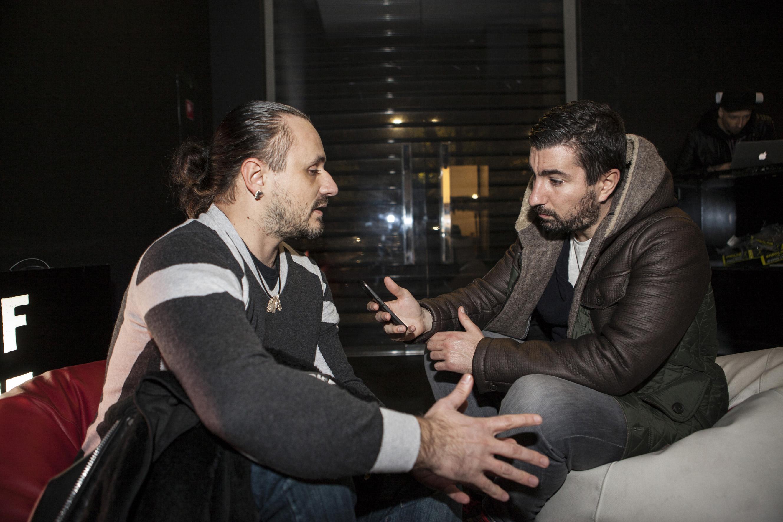Andrea Afferni durante l'intervista