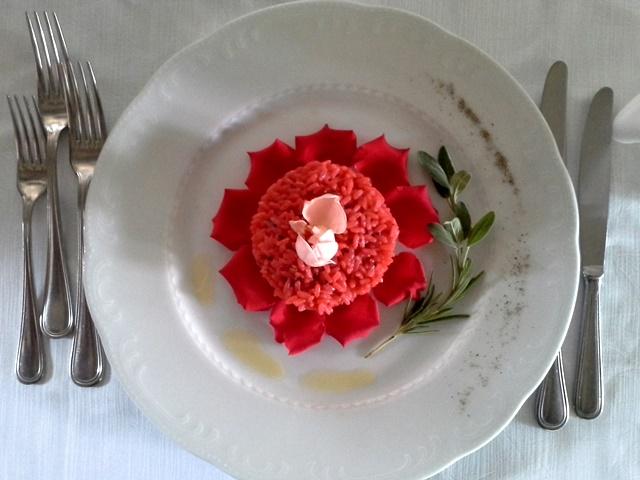 Il rinomato risotto alla rosa del Montebelli Resort