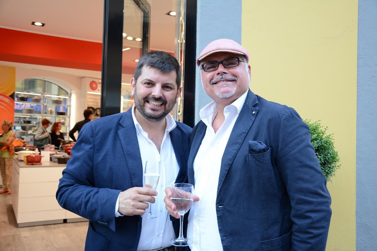 Chel Lombardo per l'Opening del primo negozio Le Creuset in Italia