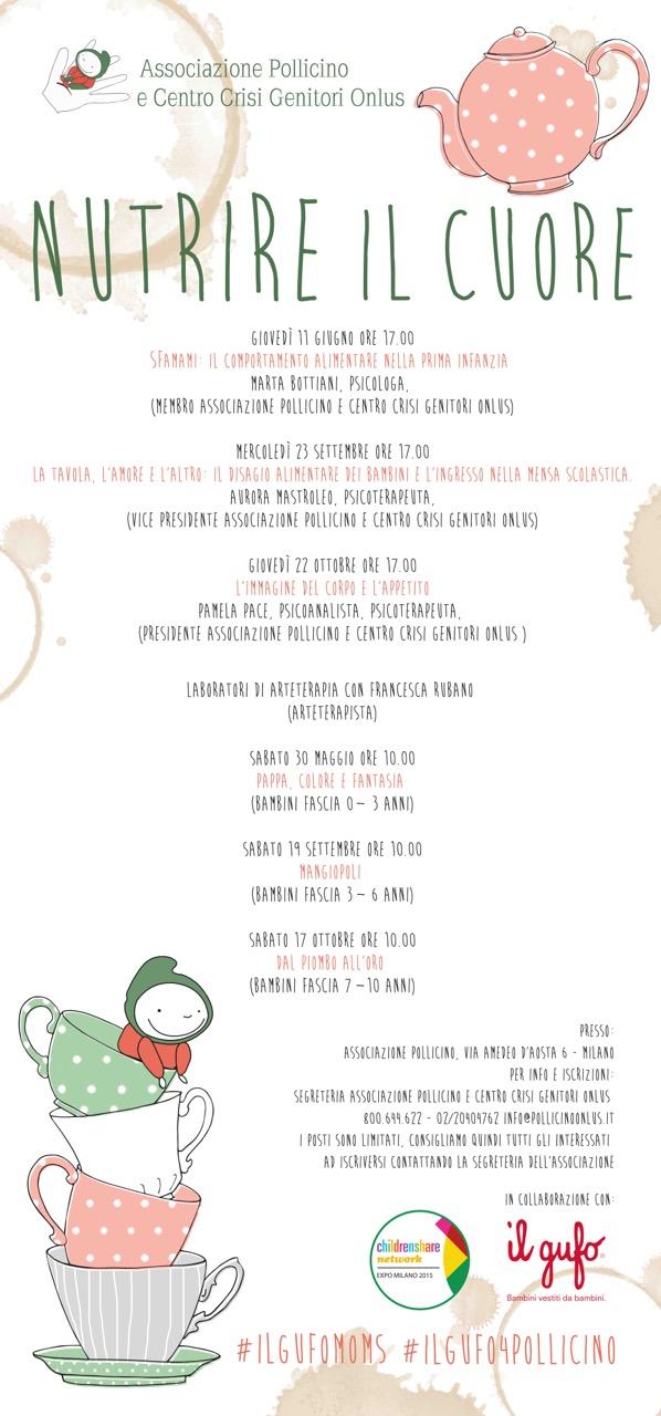 """Calendario incontri progetto """"Nutrire il Cuore"""""""