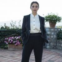 Greta Scarano in Giorgio Armani ai Nastri d'Argento