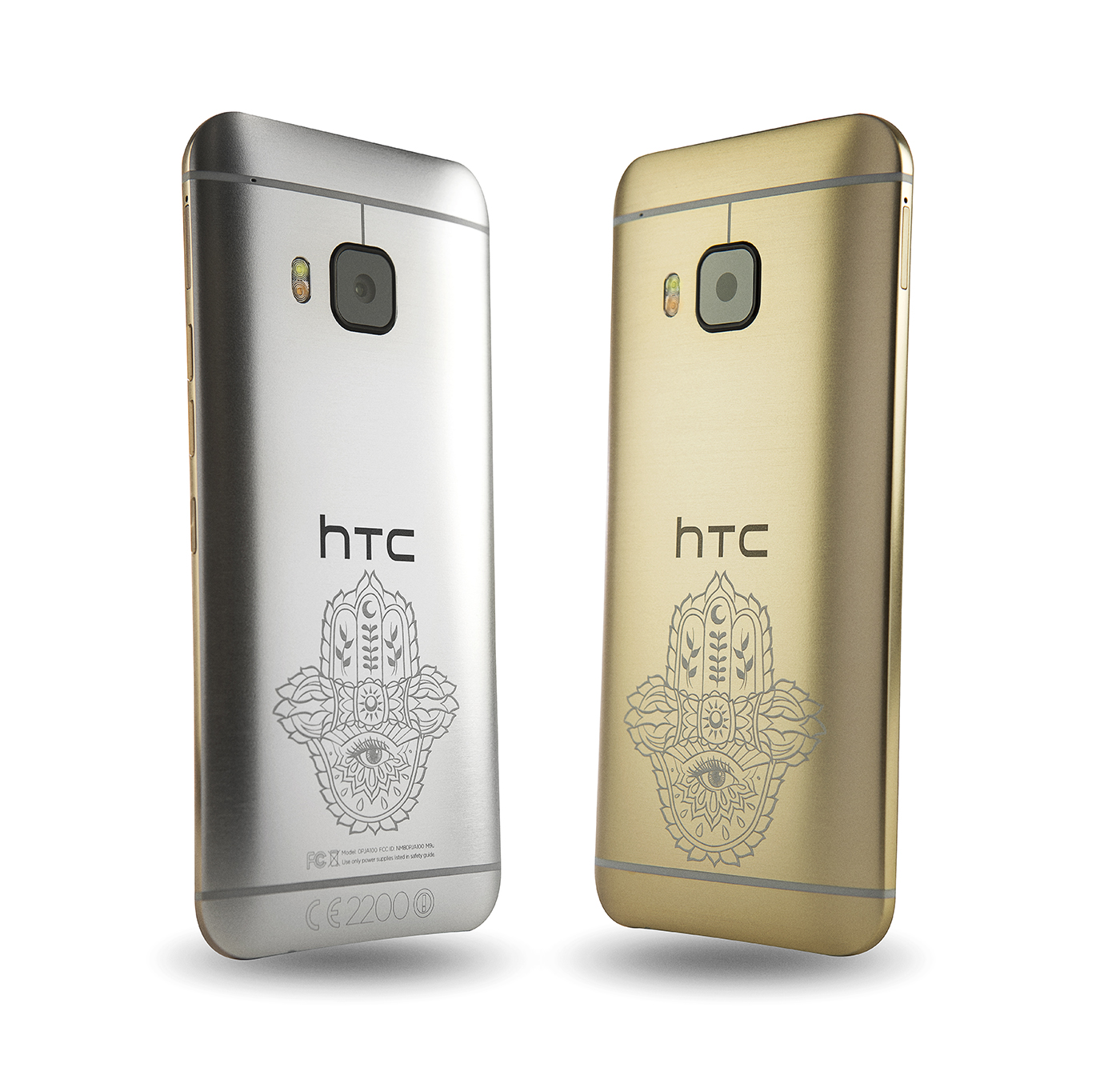 HTC ONE M9 INK GOLD AND SILVER
