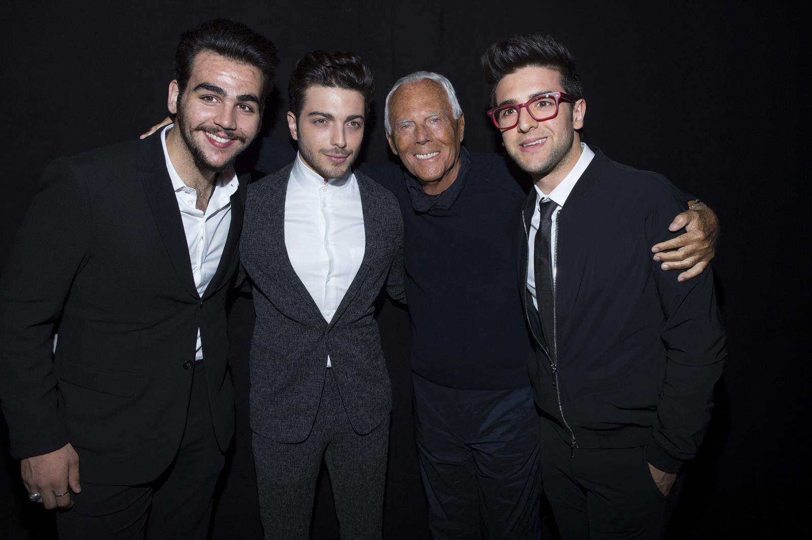 Il Volo e Giorgio Armani