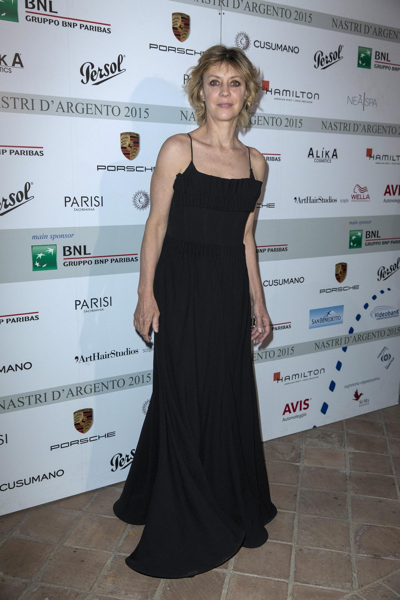 Margherita Buy in Giorgio Armani ai Nastri d'Argento