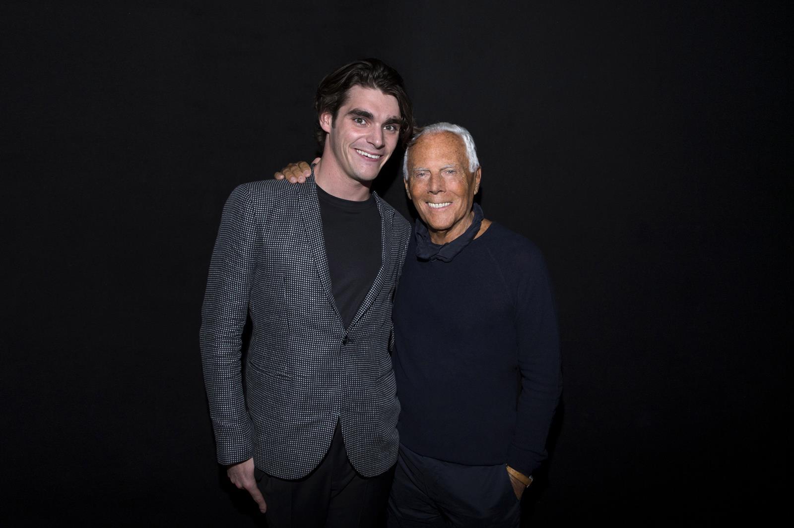 RJ Mitte e Giorgio Armani