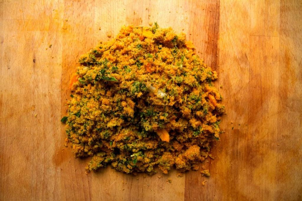 Ripieno del wrap 180 gr di polpa di scarto di un centrifugato di frutta