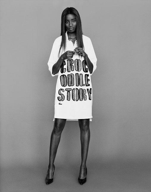 Karidja Touré per la capsule collection Lacoste  by Lesage