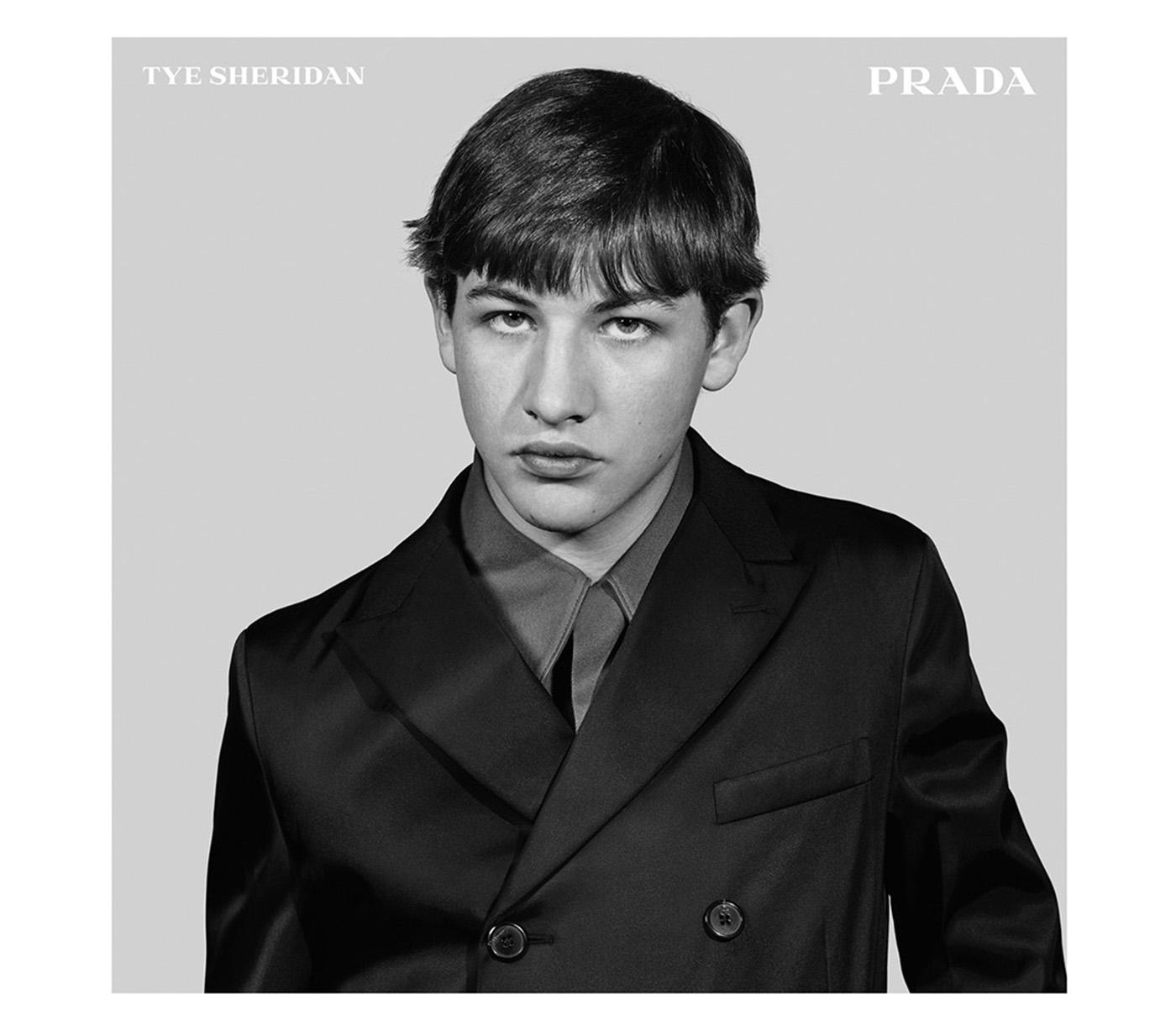Tye Sheridan per Prada FW15 Menswear Adv Campaign