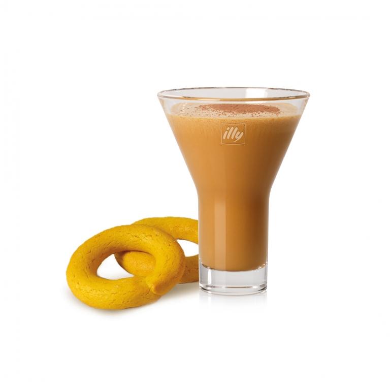 Espresso, gelato alla crema, biscotti savoiardi e polvere di cacao magro da degustare con i biscotti Essi Buranei.
