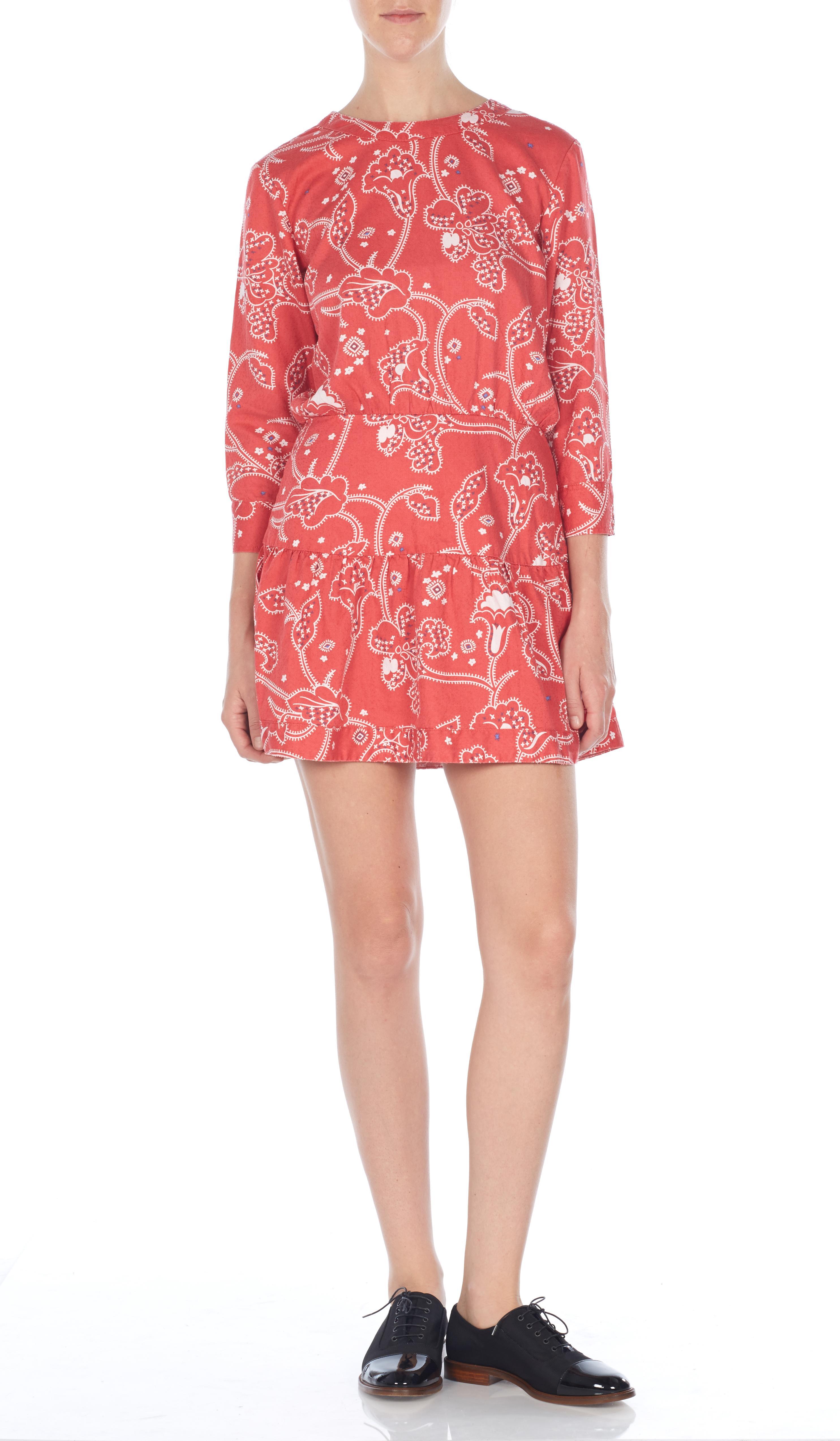 Dress bandana print 3351-1618_CHRYSANTHEMUMBANDANAPAISLEY_FRONT_22704