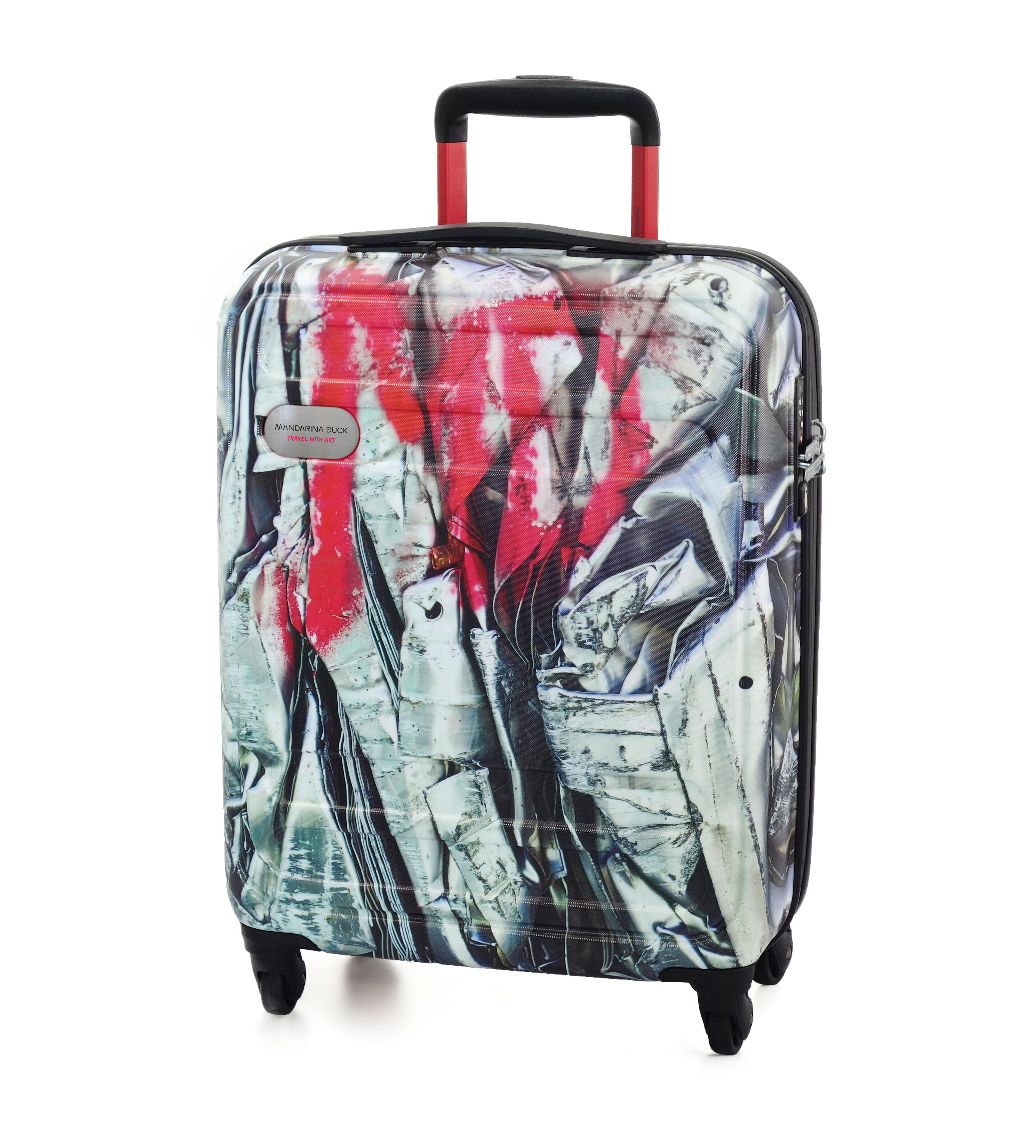Mandarina Duck trolley travel with art