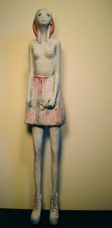 Santa Agata di Silvia Trappa scultura in resina 2015