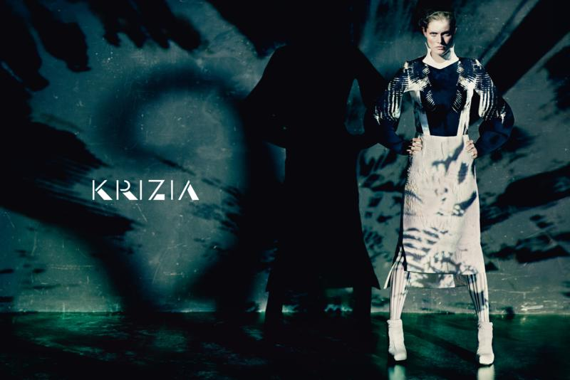 malgosia bela for krizia photo paolo roversi adv campaign